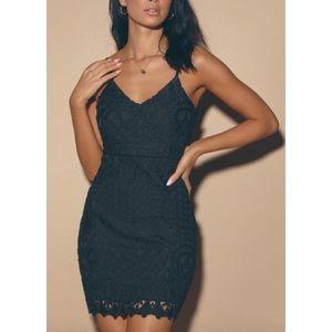 Lulus Perfect Love Black Lace Mini Dress- XL